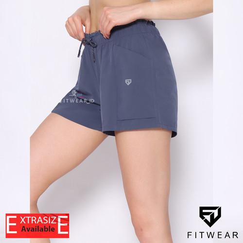 Foto Produk Celana lari pendek wanita (Fitness, Yoga, Zumba) FITWEAR ATH-ALESSIA - LUSH BLUE, S dari Fitwear Official