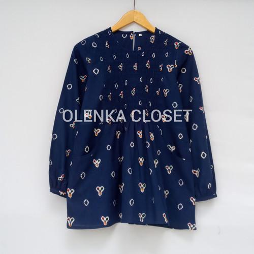Foto Produk Atasan Batik Jumputan 53 Nevy - M dari OlenkaCloset