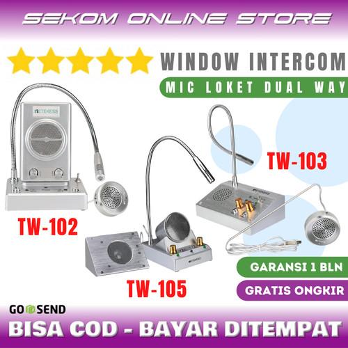Foto Produk RETEKESS Dual Way Window Counter Intercom - Mic Loket 2 Arah dari SEKOM ONLINE STORE