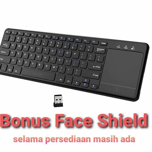 Foto Produk keyboard wireless touchpad mousepad 2.4G T155 not logitech dari hks-altic