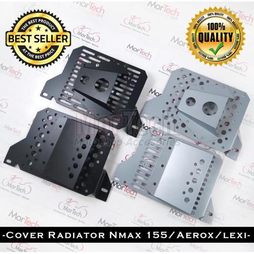 Foto Produk Cover Tutup Radiator NMax + Air Scoop Model Sarang Tawon Bahan Tebal - 02 Bulat Hitam dari Mortech shop