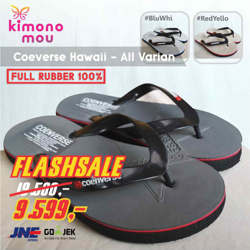 Foto Produk Sandal Sendal Pria Coenverse Jepit - Karet - New Eiger Homy - BlackRose, 38 dari Kimono Mou