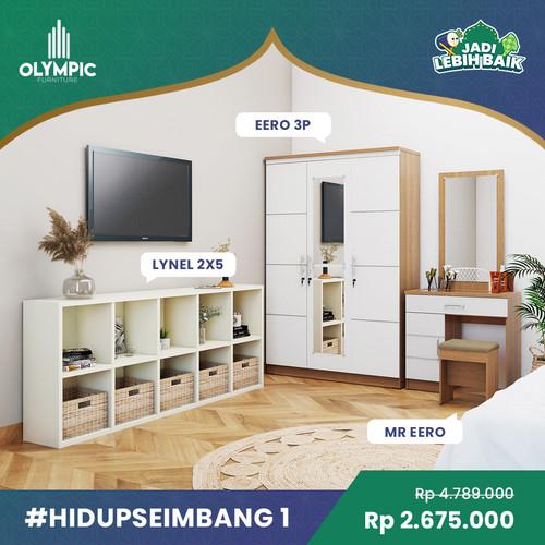Foto Produk Olympic Hidup Seimbang 1 – Lemari Baju + Meja Rias + Rak Serbaguna dari Olympic Furniture