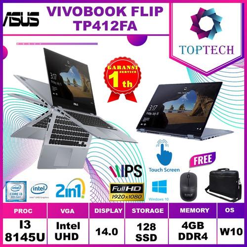 Foto Produk ASUS VIVOBOOK FLIP TP412FA 2in1 Touch i3 8145U 8GB 128ssd W10 14.0FHD - 4 gb dari Top Tech