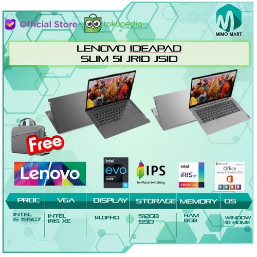 Foto Produk Lenovo Ideapad Slim 5i 14 i5 1135G7 8GB 512ssd W10+OHS 14.0FHD IPS - platinum dari MIMO MART