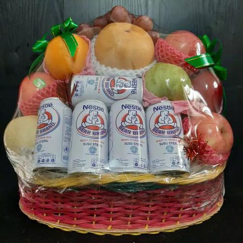 Foto Produk parsel buah dengan supplement dan kue ukuran M dari Kilauberkah