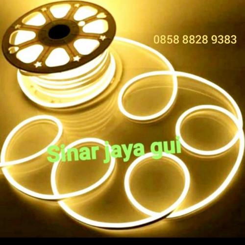 Foto Produk Lampu Neon Flex LED Selang Flexible Sign Strip WARM WHITE - warm white dari sinar jaya gui