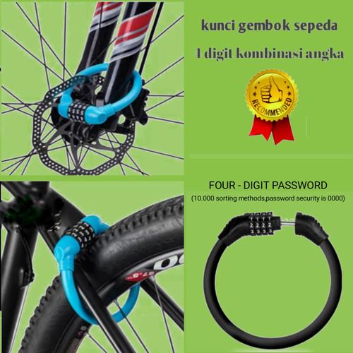 Foto Produk kunci sepeda anti maling - Hitam dari kumurah murah