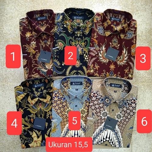 Foto Produk Kemeja batik Alisan lengan pendek original reguler fit uk 15,5 dari e-soeboer