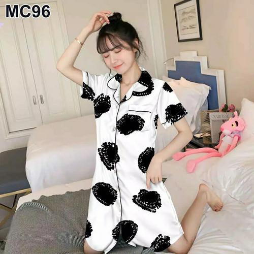 Foto Produk blinqshop baju tidur piyama MOTID AUREL - DST PUTIH dari BLINQ SHOP