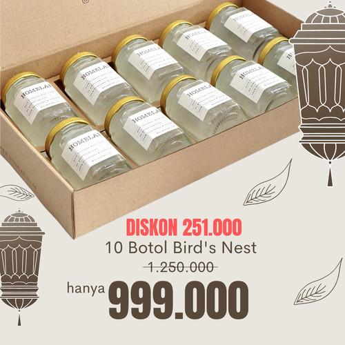 Foto Produk Paket Bird's Nest / Sarang Burung Walet 10 Botol - 100% Asli dari HOMELAB_ID