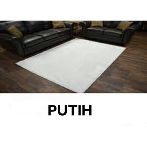 Foto Produk KARPET BULU RASPUR 160x100x5cm busa HDP termurah - Putih dari safana decoration