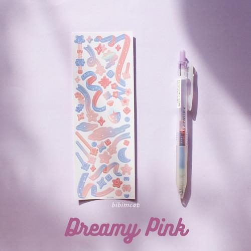 Foto Produk Journaling Ribbon Confetti Deco Sticker / Sticker Dekorasi Photocard - Dreamy Pink dari Bibimcat