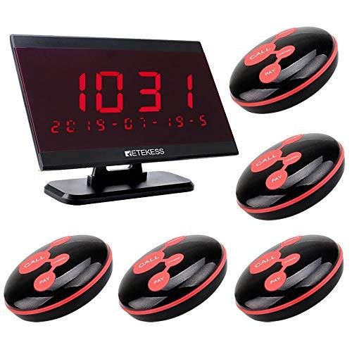 Foto Produk Bel Panggil Pelayan Restaurant Calling System 1 Display 5 Call Button dari EtalaseBelanja