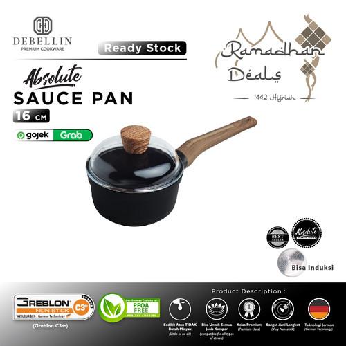 Foto Produk Debellin Sauce Pan 16 cm - Absolute Granite Series Anti Lengket dari Debellin Cookware