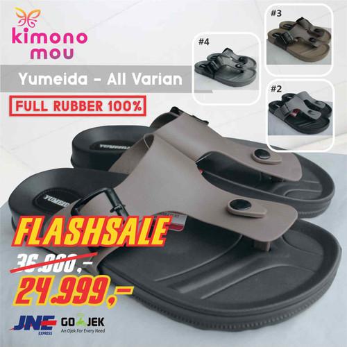 Foto Produk Sandal Sendal Pria Cowok Yumeida - Jepit - Karet -Model New Era Carvil - Choco Strap, 38 dari Kimono Mou