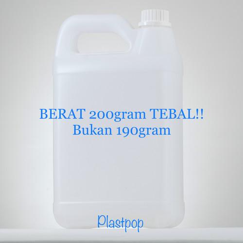 Foto Produk (GOJEK) jerigen 5 liter / minyak goreng / 5 kg / 5kg / HDPE 5 liter dari plast pop