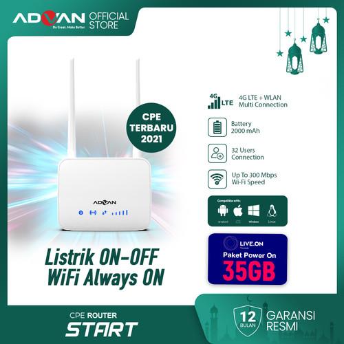 Foto Produk Advan Router CPE Start 4G LTE + WLAN Garansi Resmi dari Advan Official Store