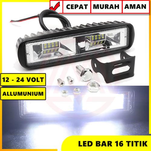Foto Produk WORK LIGHT LED BAR 16 TITIK CWL 12-24 VOLT LAMPU TEMBAK SOROT 36W dari Modifikasi Market