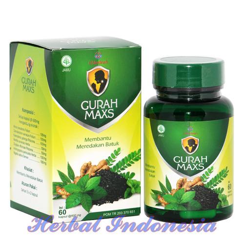 Foto Produk Kapsul Gurah MAXS El Medinah | Herbal Merdakan Batuk isi 60 kapsul dari Herbal Indonesia