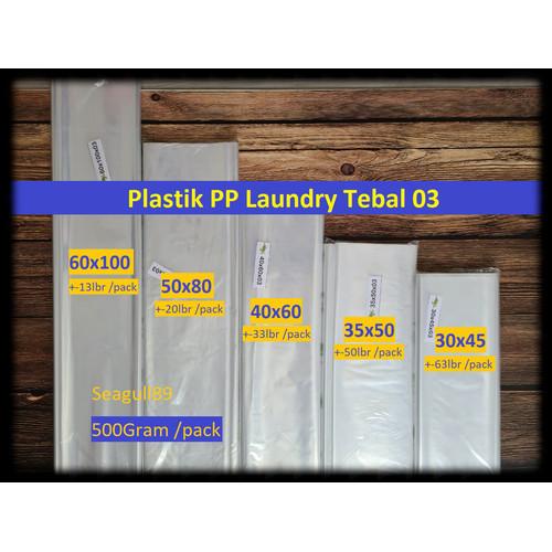 Foto Produk Kantong Plastik PP Bening Jumbo Besar Laundry Kura-Kura - 500Gr - 50x80 dari Seagull89