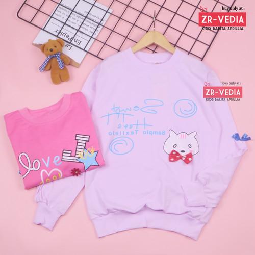 Foto Produk [PREMIUM IMPORT] Sweater Klowie uk 1-15 Tahun / Baju Anak Perempuan - 3-4 tahun, PEACH dari ZR-Vedia