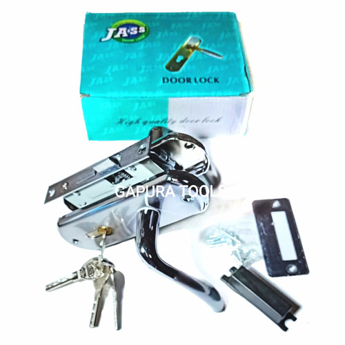 Foto Produk Kunci Pintu Kecil Set Komplit + Body Handle Pintu Kamar Set. dari gapura tools