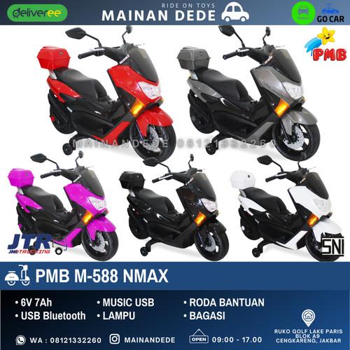 Foto Produk Mainan Motor Aki NMAX RAID PMB M588 GOJEK MURAH - Merah dari Mainan Anak Dede