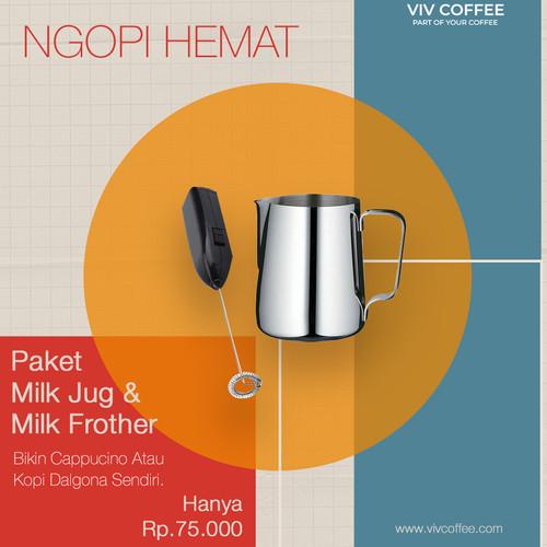 Foto Produk Coffee Maker Milk Frother Milk Jug Bundle dari VIV Coffee