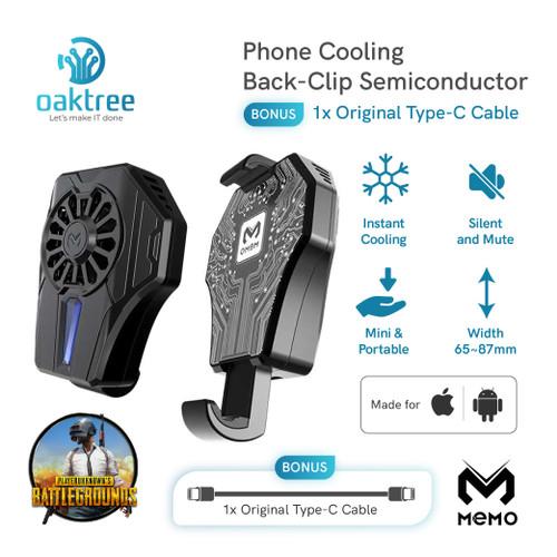 Foto Produk MEMO DL01 Fan Cooler Radiator Pendingin HP Cooling Fan Gaming - MEMO DL01 dari Oaktree