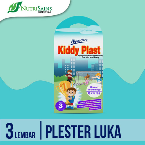 Foto Produk HycoCare Kiddy Plast Thin 3P/Pelindung Luka Anak/Plester Waterproof dari Nutrisains Official