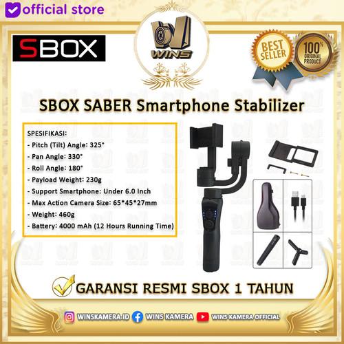 Foto Produk SBOX Saber Gimbal - 3 Axis Smartphone Stabilizer Garansi Resmi dari Wins Kamera