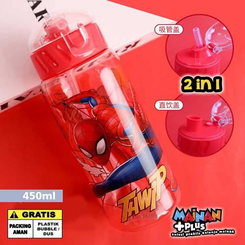 Foto Produk BOTOL MINUM ANAK DISNEY MARVEL AVENGERS TRITAN FOOD GRADE BPA FREE - SPIDERMAN dari MainanPlus