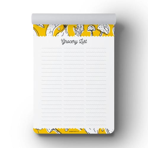 Foto Produk Grocery List Receta Notepad dari Papermark