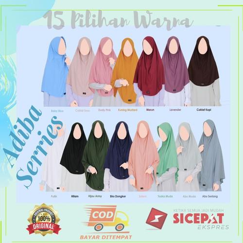 Foto Produk Hijab Khyar Original Adiba Series Hijab adem Muslimah Hijab Khayr - S, COKLAT SUSU dari Djilan Shop