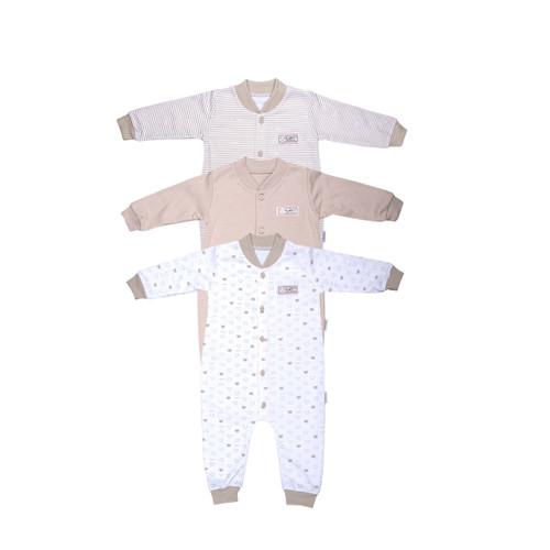 Foto Produk FLUFFY Sleepsuit Buka Kaki (Isi 3Pcs) KDS KKI S/M/L - 6-9 Bulan dari FLUFFY Baby Wear