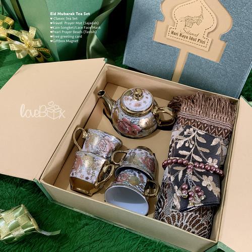 Foto Produk Gift Box Hampers Lebaran – Eid Mubarak Tea Set dari LoveBoxGiftBox