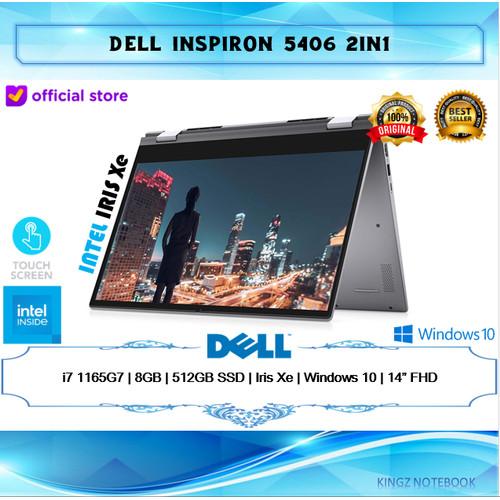 """Foto Produk Dell Inspiron 14 5406 2in1 i7-1165G7 8GB 512GB Win10 14"""" FHD Touch - Silver dari Kingz Notebook"""