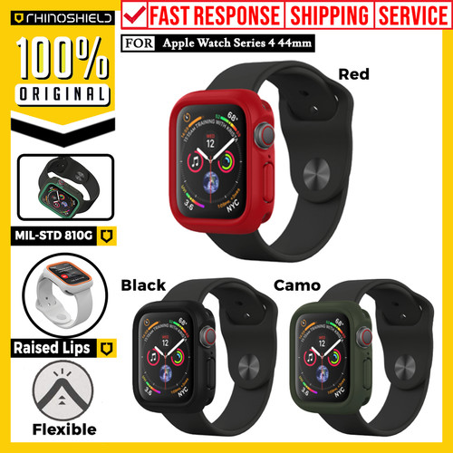 Foto Produk Case Apple Watch Series 4 44mm RhinoShield CrashGuard NX Bumper Casing - Black dari Unicase Store