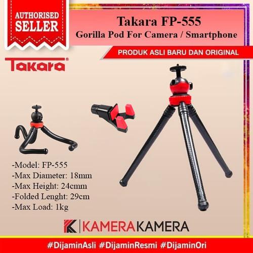 Foto Produk TAKARA FP-555 FP555 Gorillapod Flexible Pod Mini Tripod HP GoPro DSLR dari kamerakamera