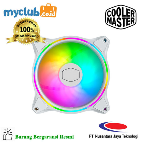 Foto Produk Cooler Master Masterfan MF120 Halo 3in1 White [MFL-B2DW-183PA-R1] dari Myclub