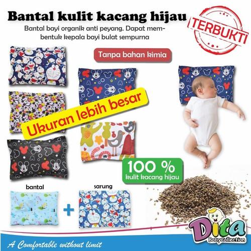 Foto Produk Bantal kulit kacang hijau ijo Dita bantal peyang peang 100% asli banta - Bean Motif, Motif Cewek dari rosy babyshop