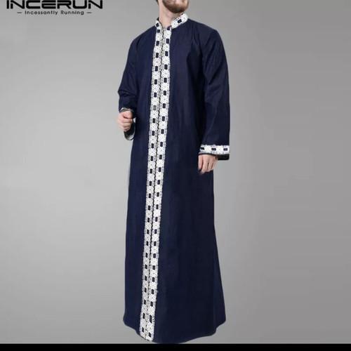 Foto Produk baju koko india kemeja kurta muslim jubah / qurta kaftan robe men dari Kuro-Shiro