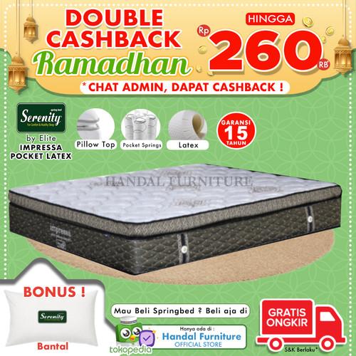 Foto Produk Serenity Hanya Kasur Spring Bed Impressa Pocket Latex 160x200 dari Handal Furniture
