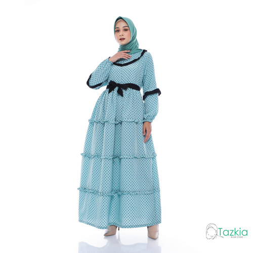 Foto Produk Dress Muslim Wanita | Gamis Amanda Toska| M L XL | Tazkia Hijab - M dari Tazkia Hijab Store