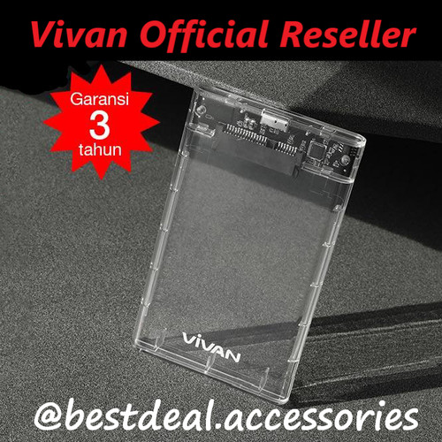 "Foto Produk Vivan VSHD1 SSD HDD Enclosure 2.5"" Inch SATA USB 3.0 External Case dari bestdeal official"