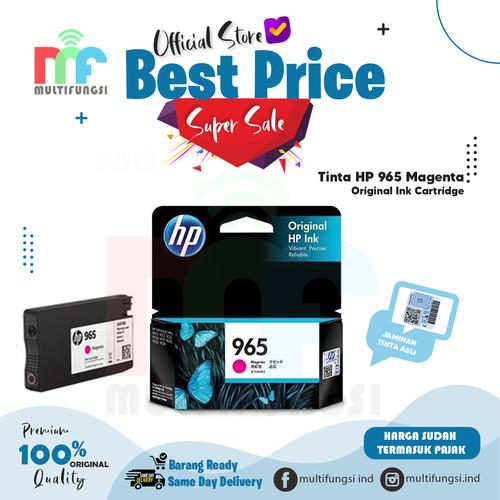 Foto Produk Tinta HP 965 Magenta Original Ink Cartridge For 9010, 9012, 9016, 9018 dari Multifungsi
