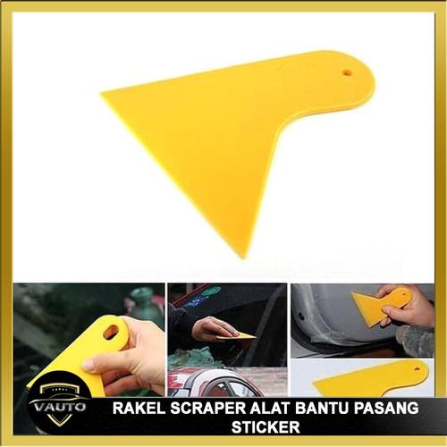Foto Produk RAKEL SCRAPER ALAT BANTU PASANG STIKER KACA FILM WALL STICKER - besar dari vauto