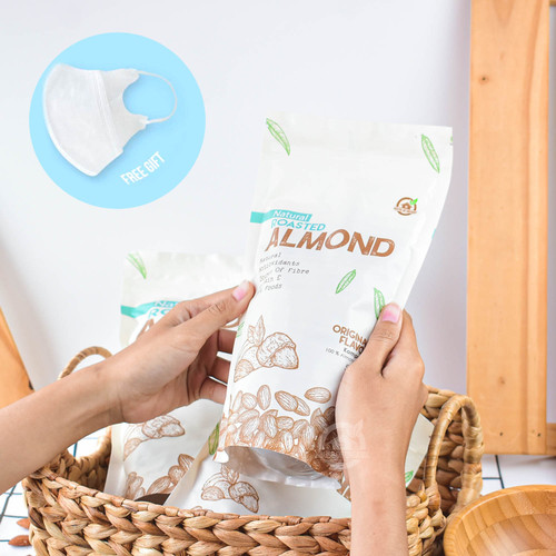 Foto Produk Natural Roasted Almond (Panggang) 500 Gr dari House Of Organix