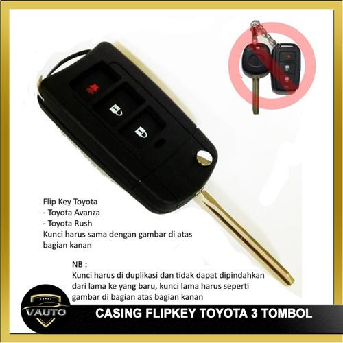 Foto Produk Flip Key Casing Kunci Lipat 3 Tombol Toyota Avanza Atau Rush dari vauto